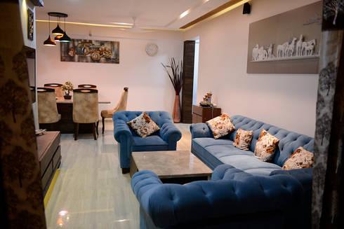3Bhk Resi at Vasant oasis:   by Vinayak Interior | Interior Designing and Decorator Companies