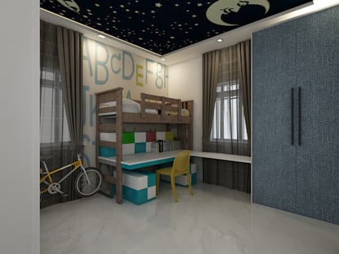 Kids Bedroom:  Boys Bedroom by Regalias India Interiors & Infrastructure