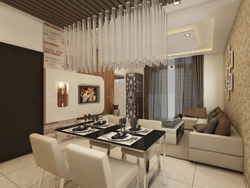 Dining Room: modern Dining room by Regalias India Interiors & Infrastructure