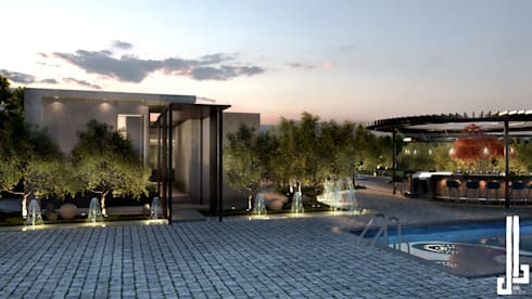 Private courtyard landscape and design:   by dal design office