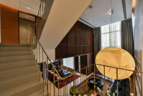 Premium Villa : minimalistic Living room by Racheta Interiors Pvt Limited