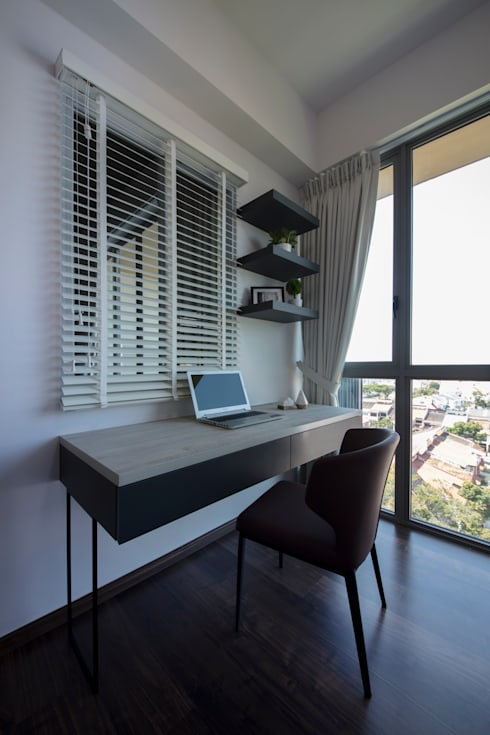 THE GLADES: minimalistic Study/office by Eightytwo Pte Ltd