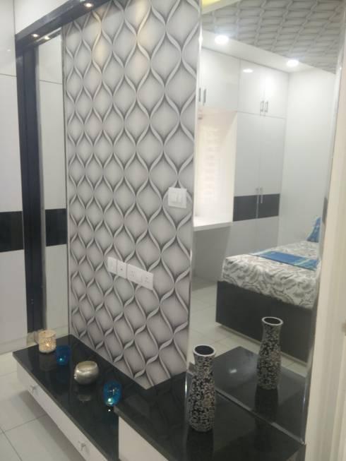 Dressing + TV Unit: modern Bedroom by Enrich Interiors & Decors