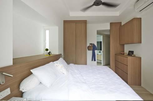 COTE D'AZUR: scandinavian Bedroom by Eightytwo Pte Ltd