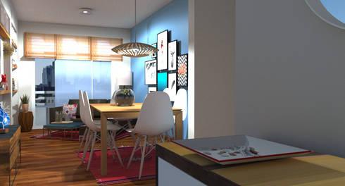 modern Living room by SilviaKarounos Decor Studio