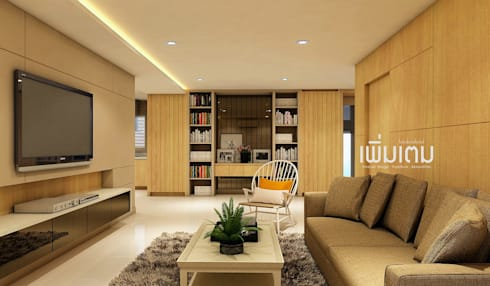 Living Room:   by เพิ่มเติม l interior design