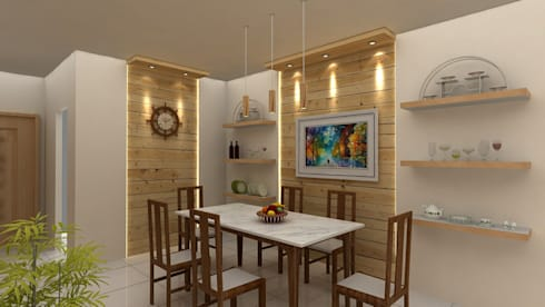 Interiors: modern Dining room by Creative Focus