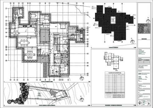 Planta de arquitectura:  de estilo  por Área Urbana Arquitectos SpA