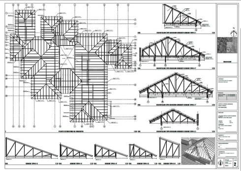 Planta de cubiertas:  de estilo  por Área Urbana Arquitectos SpA