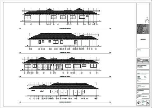 Plano de elevaciones:  de estilo  por Área Urbana Arquitectos SpA