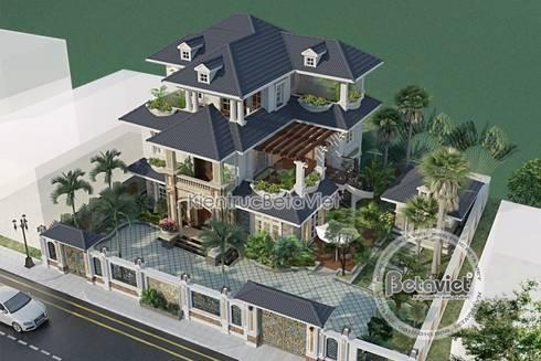 Phối cảnh mẫu thiết kế biệt thự 3 tầng Hiện đại KT16301:   by Công Ty CP Kiến Trúc và Xây Dựng Betaviet