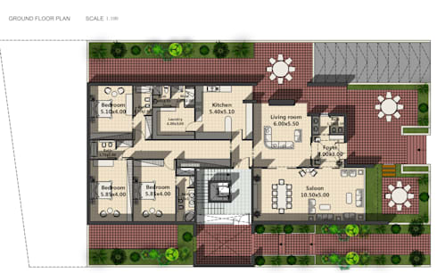 Walls by SPACES Architects Planners Engineers