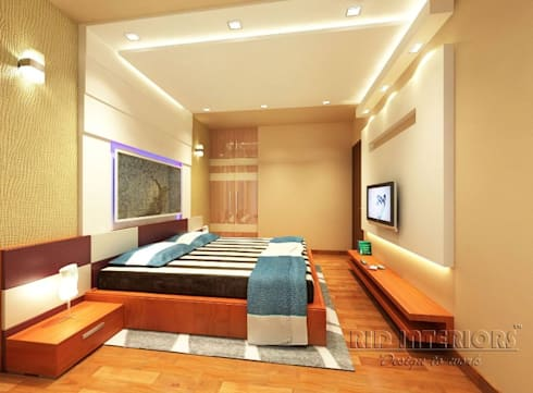 Bedroom: modern Bedroom by RID INTERIORS