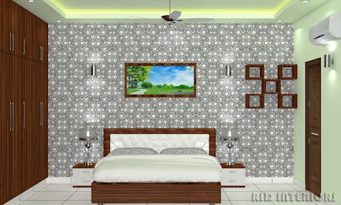 MASTER BEDROOM:   by RID INTERIORS