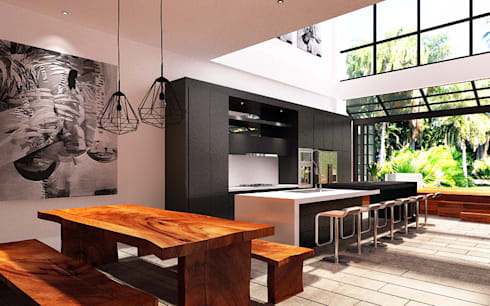 Ruang Makan, Dapur, & Taman :  Dapur by Lighthouse Architect Indonesia