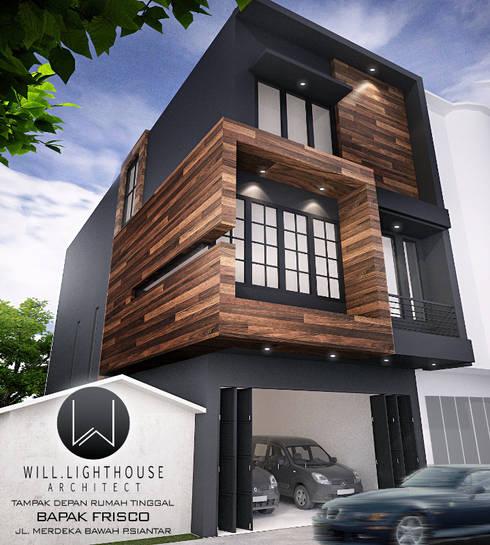 Tampak Depan Hunian:  Rumah by Lighthouse Architect Indonesia