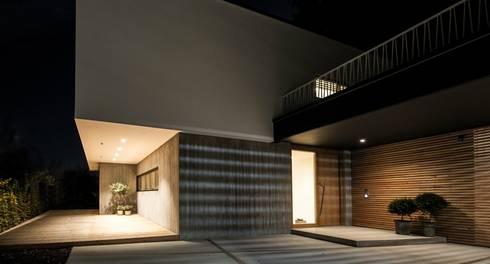 Aussenansicht bei Nacht:  Einfamilienhaus von Fiedler + Partner