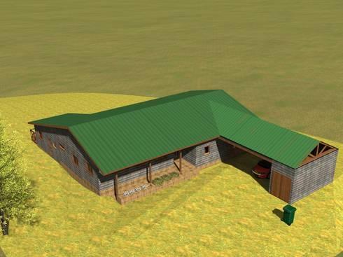 Casa Loteo Los Morros, camino a Lago Atravesado:  de estilo  por casa rural
