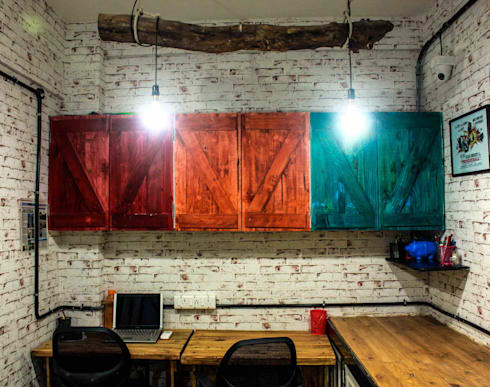 Zoomstart India—the first  bohemian themed co-working space in India:  Office spaces & stores  by deZinebox