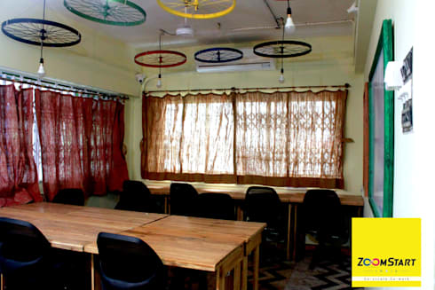 Zoomstart India—the first  bohemian themed co-working space in India:  Office buildings by deZinebox