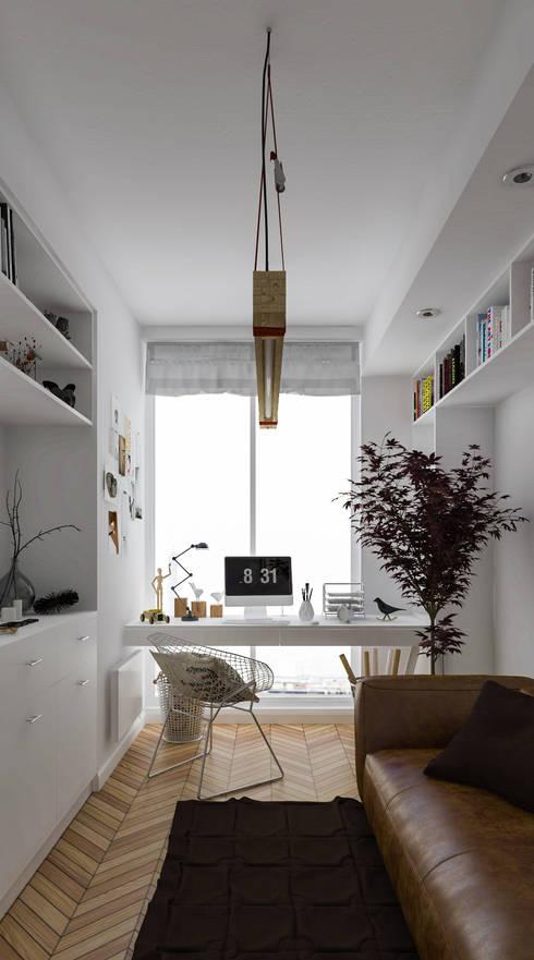 Diseño de Interior: Estudios.: Estudios y oficinas de estilo  por Mexikan Curious