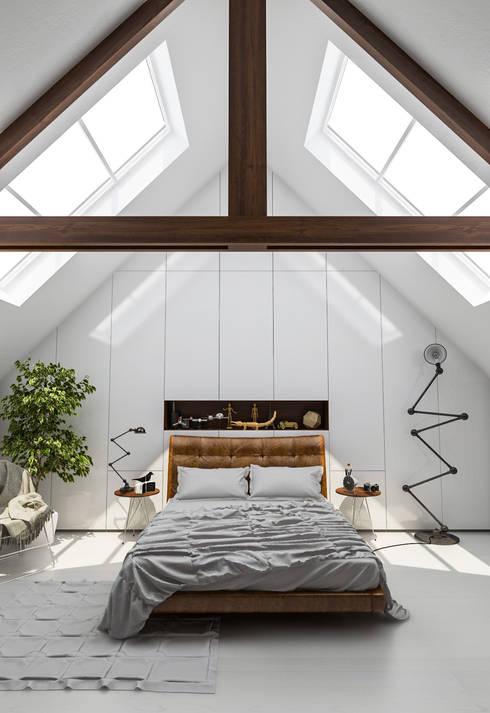 Diseño de Interior: Recámaras.: Recámaras de estilo  por Mexikan Curious