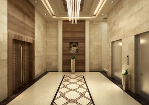 Corridor & hallway by SPACES Architects Planners Engineers