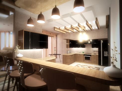 mediterranean Kitchen by SPACES Architects Planners Engineers