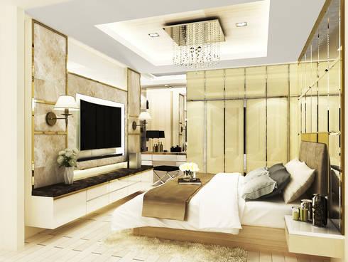 Noble Ploenchit:  ห้องนอน by บริษัท พระนคร เดคคอเรท จำกัด