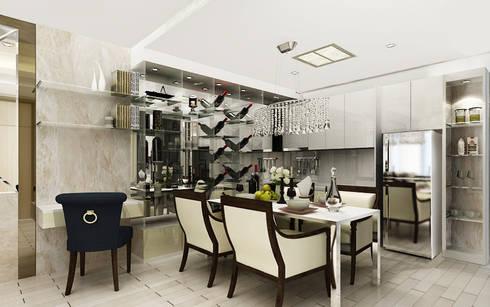 Noble Ploenchit:  ห้องทานข้าว by บริษัท พระนคร เดคคอเรท จำกัด