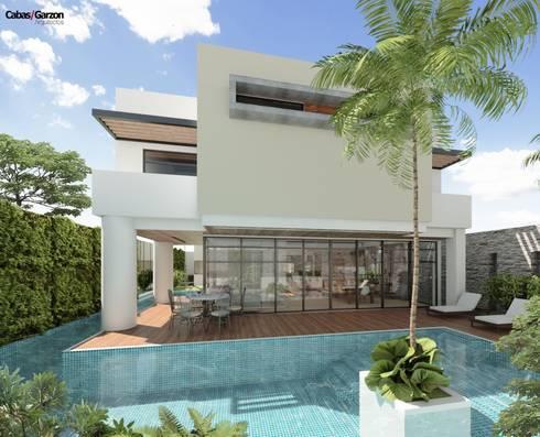 Casas Campestres:  de estilo  por Cabas/Garzon Arquitectos