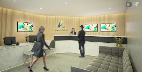 Reception Lobby/ Customer service:  Office buildings by DW Interiors
