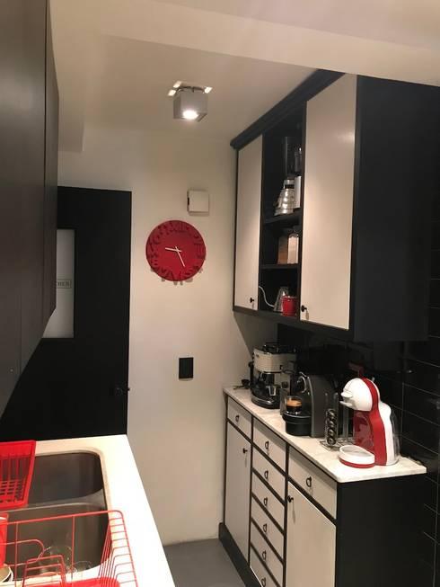 Entrada cocina: Muebles de cocinas de estilo  por PICHARA + RIOS arquitectos