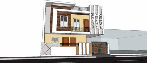 Front elevation :   by Aditya shrivastava
