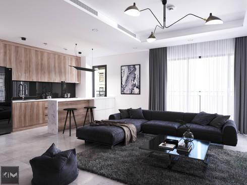 Dự án Vinhomes Central Park:  Phòng khách by KIM - furniture