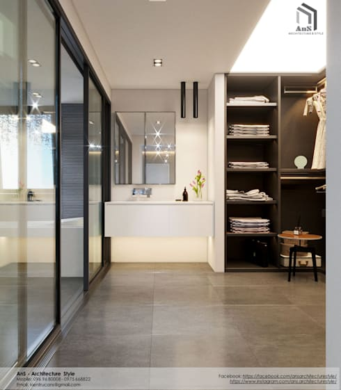 Dự án Biệt thự cao cấp:  Cầu thang by AnS - Architecture Style
