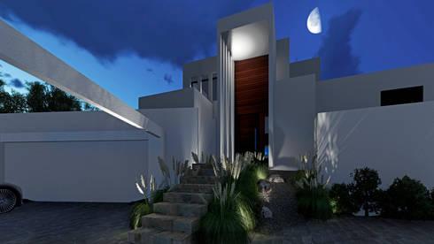 CASA PV: Casas de estilo mediterraneo por NEF Arq.