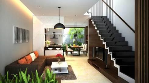 Cầu thang được thiết kế đặc biệt:  Cầu thang by Công ty TNHH Thiết Kế Xây Dựng Song Phát