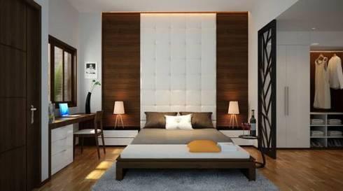 Phòng ngủ ấm áp:  Phòng ngủ by Công ty TNHH Thiết Kế Xây Dựng Song Phát