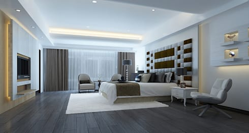 project-3002 : modern Bedroom by YU SPACE DESIGN