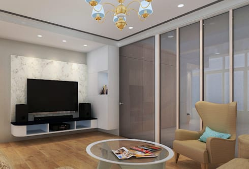 project-6007: modern Living room by YU SPACE DESIGN