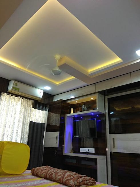 1bhk completed Project Hiranandani Estate: modern Bedroom by KUMAR INTERIOR THANE