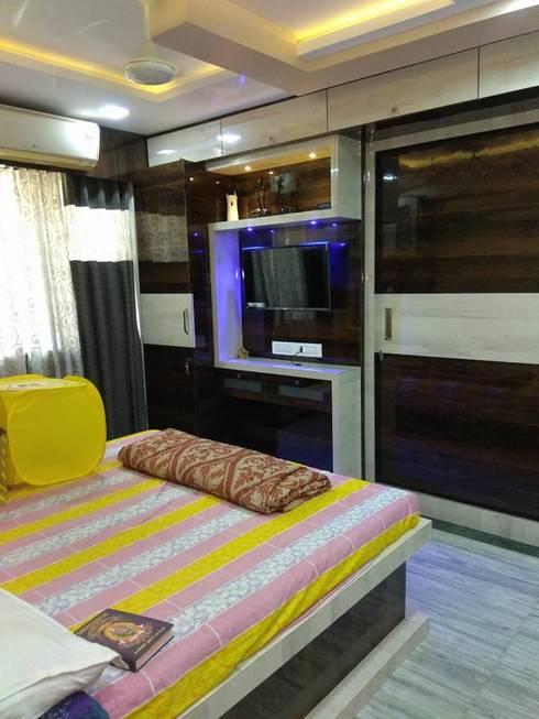master bedroom design: modern Bedroom by KUMAR INTERIOR THANE