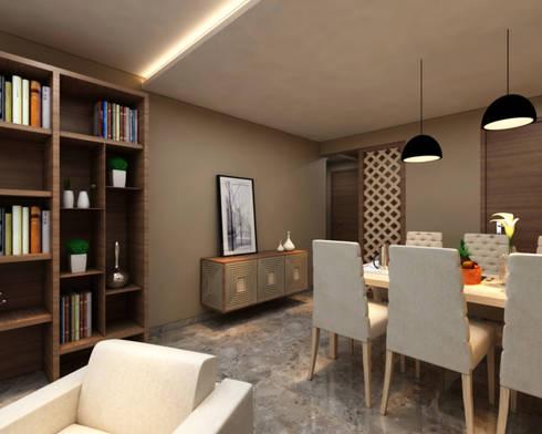Borivali Residence: asian Dining room by Midas Dezign