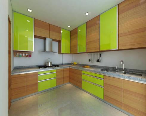 Borivali Residence: asian Kitchen by Midas Dezign