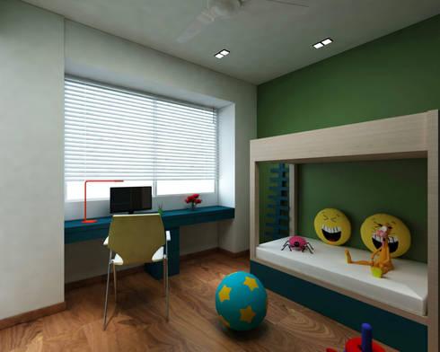 Borivali Residence: asian Nursery/kid's room by Midas Dezign