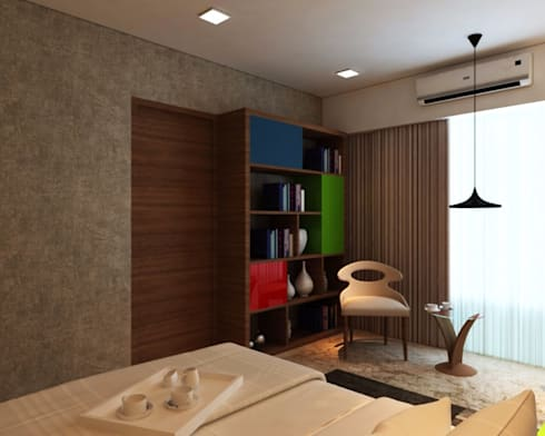 Ashish Rai Residence: asian Bedroom by Midas Dezign