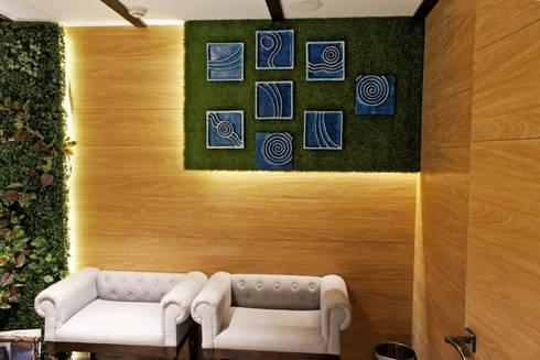 Mahajans Lounge in DLF 4, Gurugram: modern Living room by Grecor