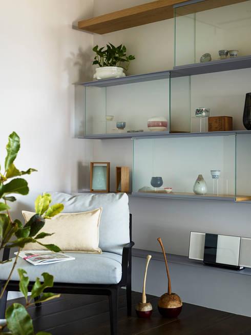 休憩區:  書房/辦公室 by 樸十設計有限公司 SIMPURE Design