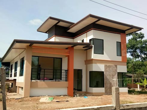 บ้านคุณดอย อ.เมือง จ.น่าน:   by บ้านช่างใหญ่ บริการรับสร้างบ้าน จ.น่าน (รัชนีก่อสร้าง)